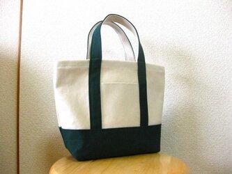 帆布ミニトートバッグ 緑の画像