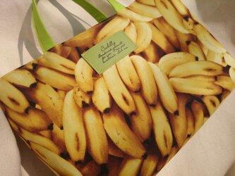 【USA生地】バナナ沢山!ミニトートバッグの画像