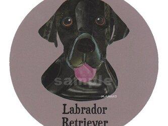 ラブラドール レトリバー/黒《犬種名ステッカー/大型犬》の画像
