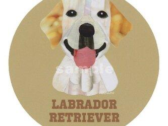 ラブラドール レトリバー /イエロー《犬種名ステッカー/大型犬》の画像