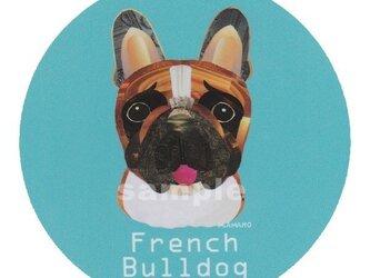 フレンチ ブルドッグ/ハニーパイド《犬種名ステッカー/小型犬》の画像