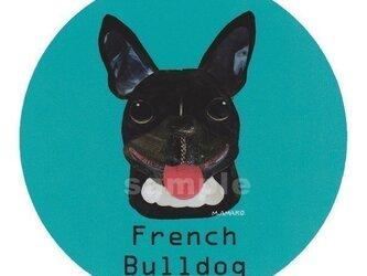 フレンチ ブルドッグ/黒《犬種名ステッカー/小型犬》の画像