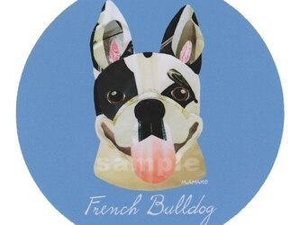 フレンチ ブルドッグ/パイド2《犬種名ステッカー/小型犬》の画像