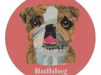 ブルドッグ/ブリンドル《犬種名ステッカー/中型犬》の画像
