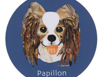 パピヨン《犬種名ステッカー/小型犬》の画像