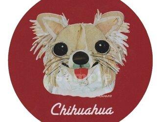 チワワ/ロングコート《犬種名ステッカー/小型犬》の画像