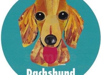 ダックスフンド1《犬種名ステッカー/小型犬》の画像