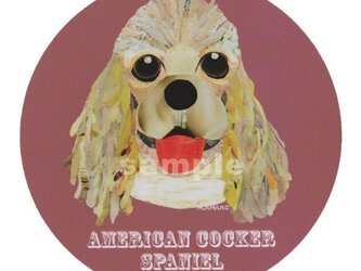 アメリカンコッカースパニエル/フォーン《犬名ステッカー/小型犬》の画像