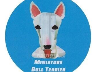 ミニチュア ブル テリア《犬種名ステッカー/小型犬》の画像