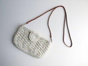 綿糸のポシェットの画像