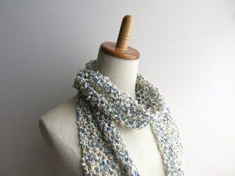 綿糸のストール(スラブミックス)の画像