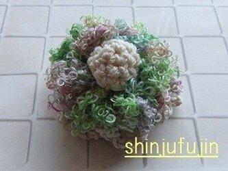 【Sold】お花畑のコサージュ43の画像