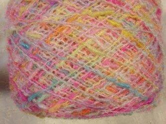 手染め糸 ぽちぽちノット パステル系 418⑭ 113gの画像