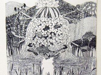 つくもおうじょ 山の神 綿ブロードハンカチの画像