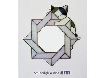 ステンドグラス ミラー M040191-BRの画像