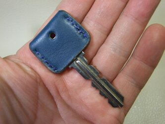 青いキーカバー の画像