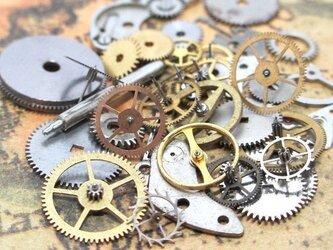時計部品・歯車パーツ 3g 【スチームパンク・レジン素材】の画像