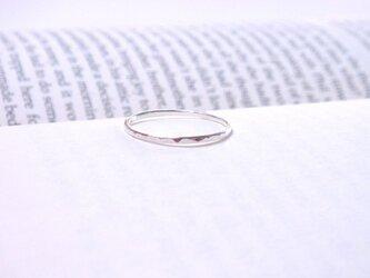 silver ring(シルバー槌目・華奢リング)の画像