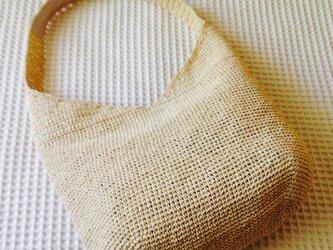 麦わら素材のナチュラルバック(大)の画像