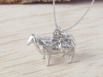 羊ネックレス(銀)の画像