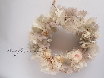 小花の贈り物リース*Cendrillonの画像