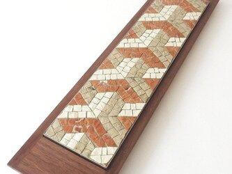 モザイクプレート「Y」 +木のトレイの画像