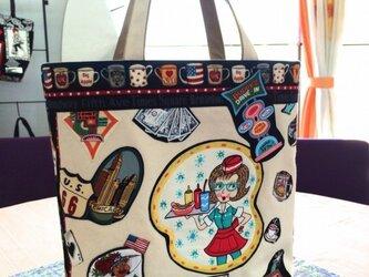 アメリカンダイナー♪オリジナルキャンバスバッグの画像
