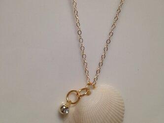 貝がらネックレスの画像