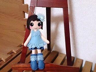 着せ替えフェルト人形根付NO.27の画像