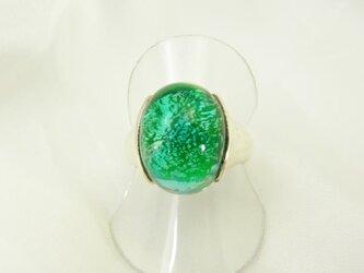 ガラスの指輪 小 【グリーン】の画像