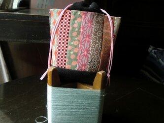 錦紗つなぎの巾着袋 -その弐ーの画像