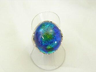 ガラスの指輪 【ブルー】の画像