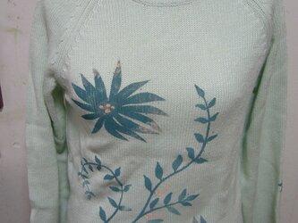 型染めの春物セーターの画像