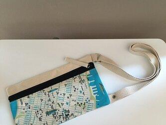キャンバストートマップ エアチケットポーチ ニューヨークの画像