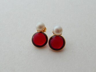 2way pearl + glass - redの画像
