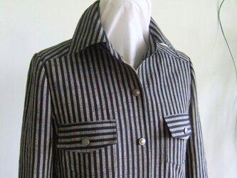 会津もめんのシャツジャケット(レディス)の画像