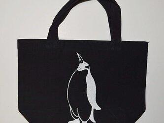 ペンギントートバッグ、黒、ペンギン、penguin, 送料無料の画像