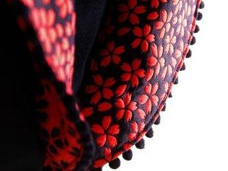 新改良版 衿抜きボレロ 赤桜の画像