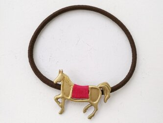 馬ヘアゴム(赤)の画像