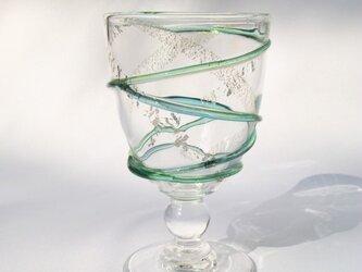 月の水和飲グラスの画像