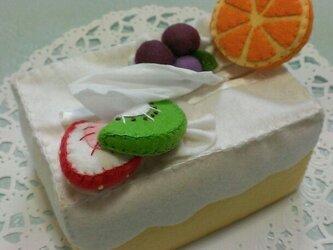 ティッシュケース フルーツの画像