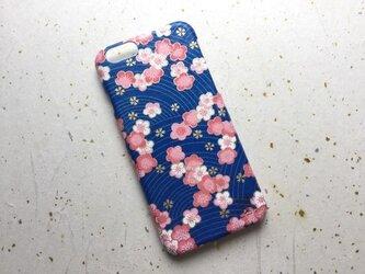 友禅和紙iPhone6カバー[波梅]の画像