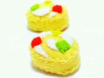 フルーツロールケーキ(マグネット)の画像