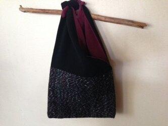 織り布フラットバッグの画像