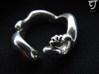 ヤモリのリング シルバーの画像
