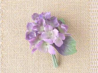 あじさい 紫陽花 M * シルクヌメ製 * コサージュ 髪飾りの画像