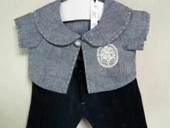 ダッフィーお洋服 綿麻ジャケット(紺)の画像