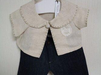 ダッフィーお洋服 綿麻ジャケット(ベージュ)の画像