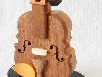 バイオリン型飛び出す印鑑入れの画像