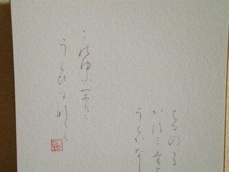 春の憂い  万葉集  巻19.4290の画像